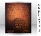 gorgeous dark chocolate design... | Shutterstock .eps vector #267121715