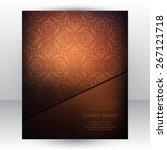 gorgeous dark chocolate design...   Shutterstock .eps vector #267121718