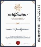 vector certificate template.   Shutterstock .eps vector #267122366