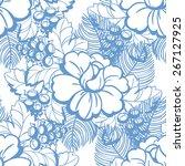 abstract elegance seamless... | Shutterstock . vector #267127925