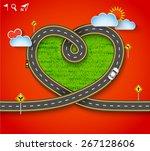 design vector road frame in... | Shutterstock .eps vector #267128606