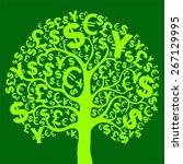 green money tree.  illustration | Shutterstock . vector #267129995