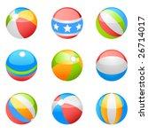 beach ball vector set | Shutterstock .eps vector #26714017