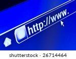 Internet browser on a WWW URL address - stock photo