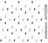 pattern lightning bolt | Shutterstock .eps vector #267152288