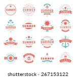 summer holidays labels design... | Shutterstock .eps vector #267153122