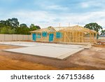 view of construction site and... | Shutterstock . vector #267153686