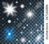 glowing stars  lights and... | Shutterstock .eps vector #267160886