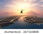Civilian Helicopter On A...