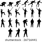 collection of sportsmen vector | Shutterstock .eps vector #26716441