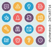 organizer flat contour icons on ... | Shutterstock .eps vector #267165716