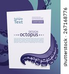 octopus and his tentacle.... | Shutterstock .eps vector #267168776