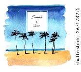 Watercolor Sea Beach Background ...