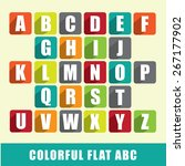 abc   colorful flat design... | Shutterstock .eps vector #267177902