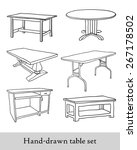 hand drawn table set | Shutterstock .eps vector #267178502