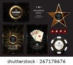 casino card design poker ace... | Shutterstock .eps vector #267178676