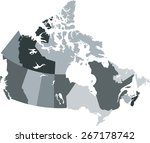 canada map | Shutterstock .eps vector #267178742
