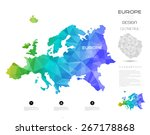 geometric map elements... | Shutterstock .eps vector #267178868