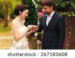 wonderful stylish rich happy...   Shutterstock . vector #267183608