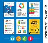 brochure or flyers design....   Shutterstock .eps vector #267185645