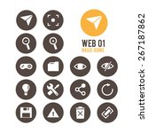 web icon set. vector... | Shutterstock .eps vector #267187862