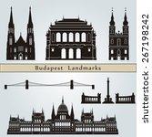 budapest landmarks and...   Shutterstock .eps vector #267198242