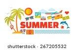 summer vacation   vector logo... | Shutterstock .eps vector #267205532