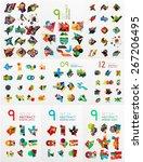 vector set of paper graphics.... | Shutterstock .eps vector #267206495