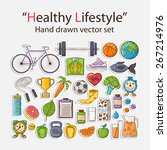 vector healthy lifestyle... | Shutterstock .eps vector #267214976