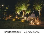 lamps and candles at night | Shutterstock . vector #267224642