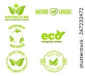 logo or badge  label  logotype... | Shutterstock .eps vector #267232472
