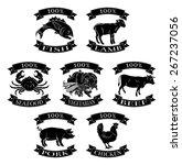 food animals 100 percent set... | Shutterstock . vector #267237056