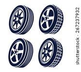 car wheel abstract    Shutterstock .eps vector #267237932