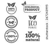 logo or badge  label  logotype... | Shutterstock .eps vector #267243995