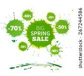 big spring sale poster design... | Shutterstock .eps vector #267244586