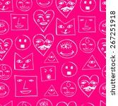 funny smile seamless pattern | Shutterstock .eps vector #267251918