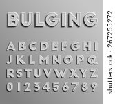 realistic 3d font  vector   Shutterstock .eps vector #267255272