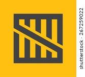 s letter line logo  vector... | Shutterstock .eps vector #267259022