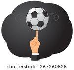 businessman hand is spinning a...   Shutterstock .eps vector #267260828