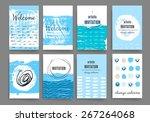sea background. invitation.... | Shutterstock .eps vector #267264068