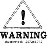 warning sign   doodle style | Shutterstock .eps vector #267268742