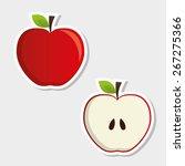 fruits design over white... | Shutterstock .eps vector #267275366