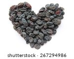 raisins laid out in the form of ...   Shutterstock . vector #267294986