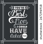 mothers day design over black... | Shutterstock .eps vector #267296918