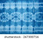 abstract tie dyed fabric... | Shutterstock . vector #267300716