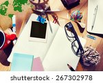 designer desk architectural... | Shutterstock . vector #267302978