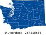 washington map | Shutterstock .eps vector #267315656