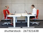 business man and woman in... | Shutterstock . vector #267321638