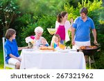 grill barbecue backyard party.... | Shutterstock . vector #267321962