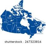 canada map | Shutterstock .eps vector #267323816